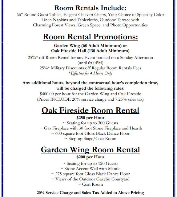 Special Events Pricing 3