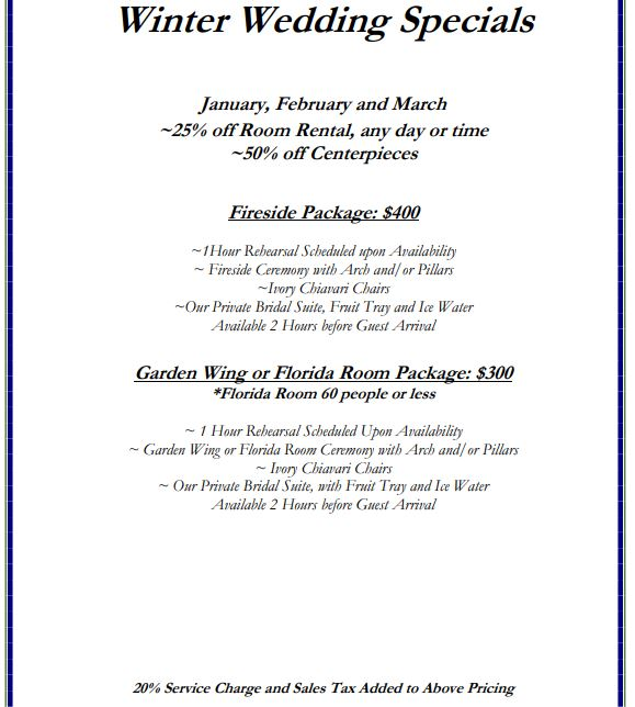 Special Events Pricing 4