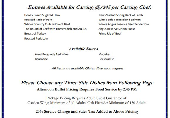 Special Events Pricing 6